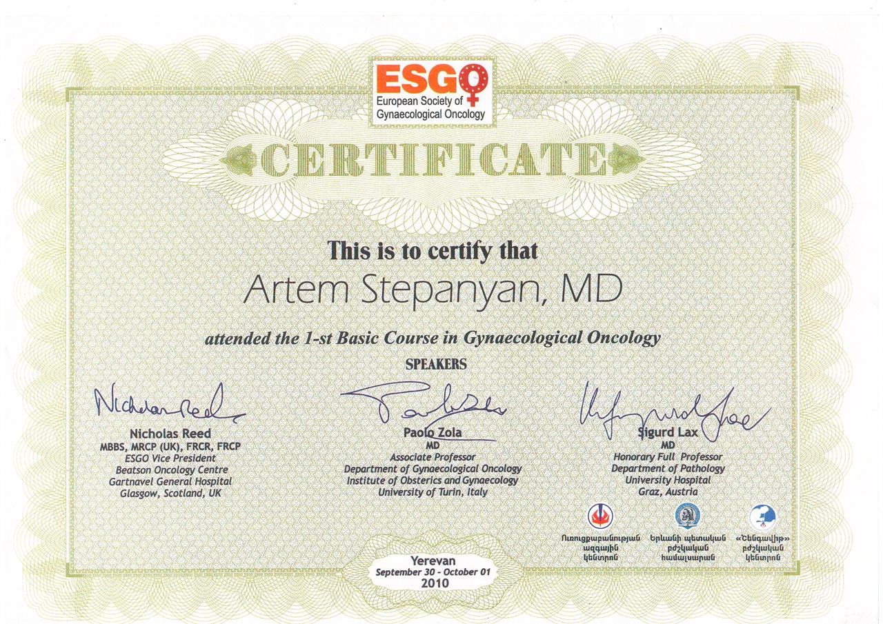 Dr  Artem Stepanyan